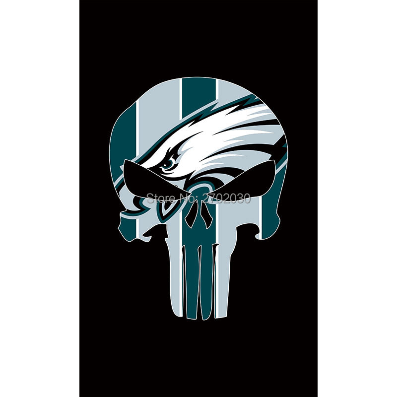 Philadelphia Eagles Flag Hanging Decoration Football Team World Series 2016 Black Colors Philadelphia Eagles Banner Flag(China (Mainland))