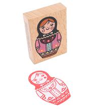 Deco Vintage Sweet Russia Doll Wooden Stamp/decoration Stamp Funny Diy Stamp