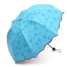 2016 New Delicate Multi-function Umbrella Lady Princess Magic Flowers Dome Parasol Sun/Rain Folding Umbrella For Women(China (Mainland))