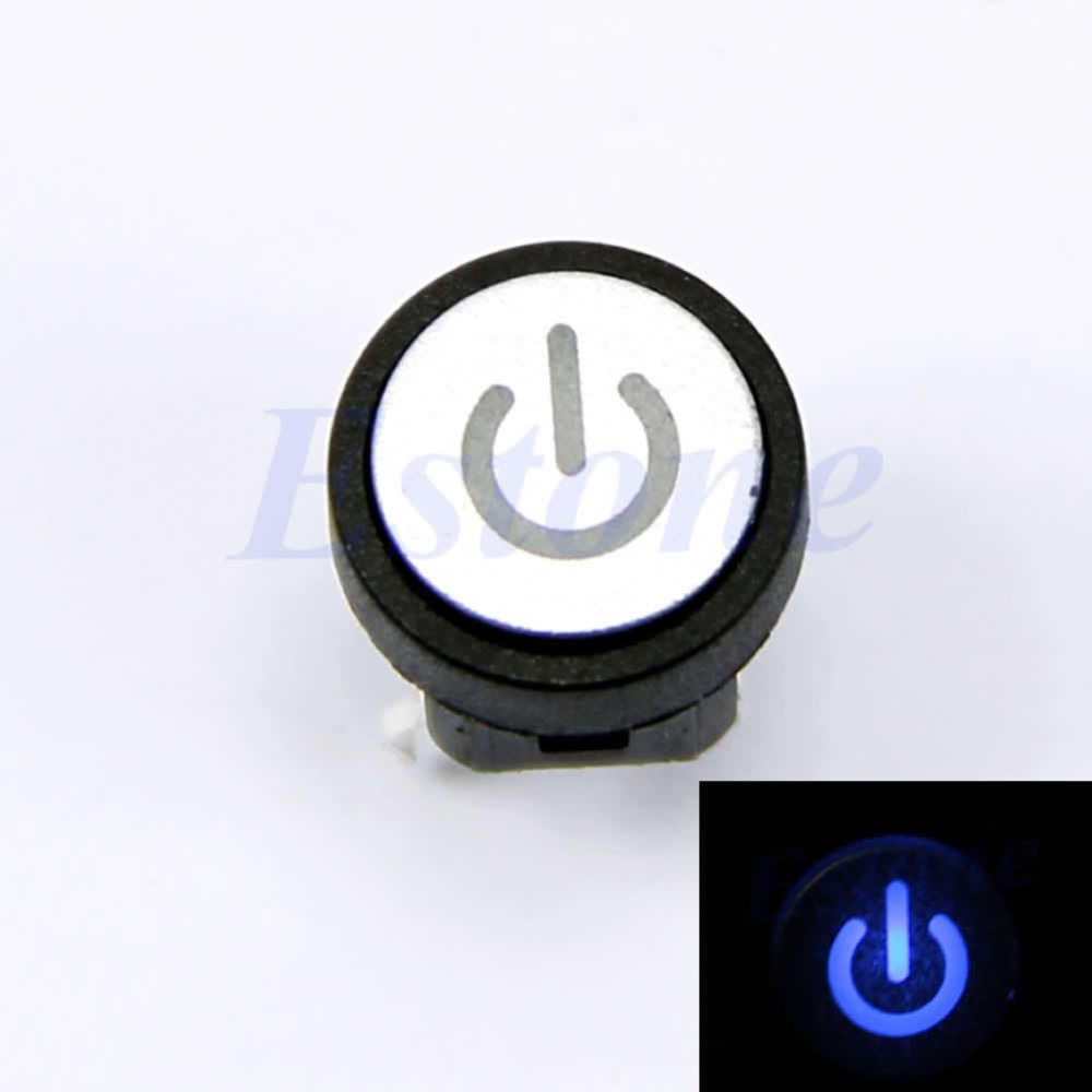 Free Shipping Blue Led Light Power Symbol Momentary Latching Computer Case Switch Push Button<br><br>Aliexpress