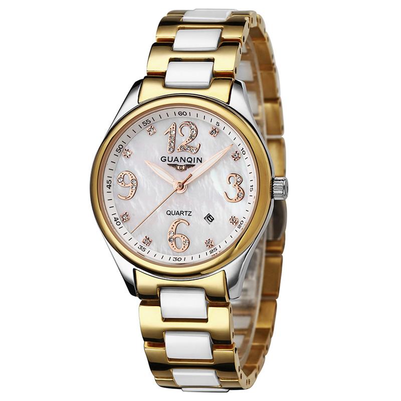 GUANQIN Women Watches Top Brand Luxury Fashion Casual Ceramic Watch Quartz Ladies Watch Female Clock Relojes Mujer Montre Femme<br><br>Aliexpress