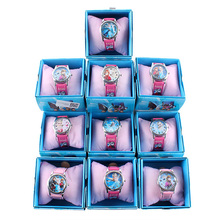 Fashion Children Watch Cute Princess Movie Elsa Anna Olaf Quartz Cartoon Kids Girl Wrist Watch Xmas Gift