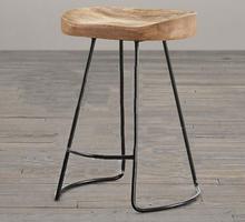 Top,The village of retro furniture,Vintage metal bar chair,anti rust treatment,Bar furniture sets,100% wood bar stool(China (Mainland))