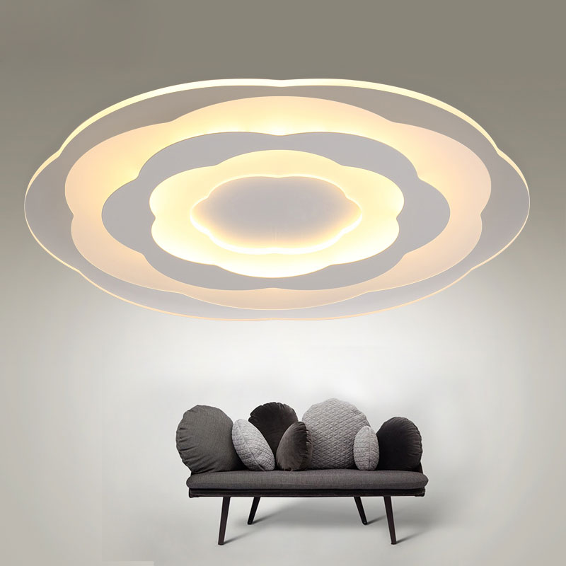 Modern Indoor Ceiling Lights : White minimalism ultrathin modern led ceiling light for