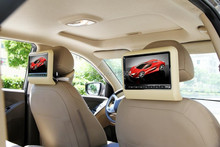 """9"""" inch Digital Panel Active detachable Car Rerseat / backseat Headrest DVD Player  with IR FM game speakers(China (Mainland))"""