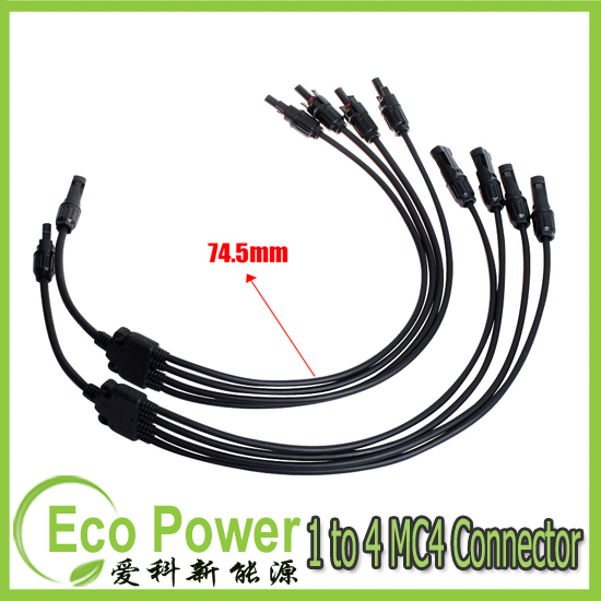 1 pair / lot  (1 to 4) MC4 male and female  Solar Panel Cable Connectors<br><br>Aliexpress