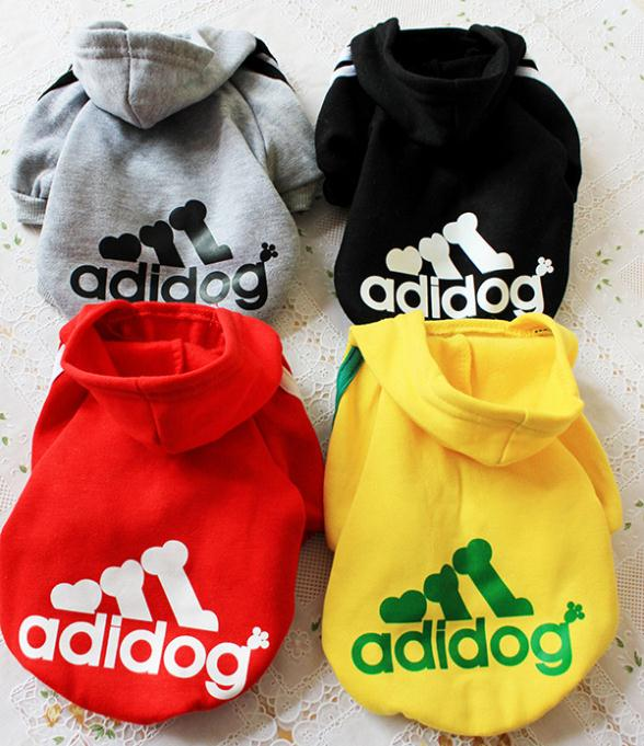 Adidas Cotton Flax Dog Pet Clothes Factory Direct Rainbow Optional 2015 New Winter-in Jumpsuits ...