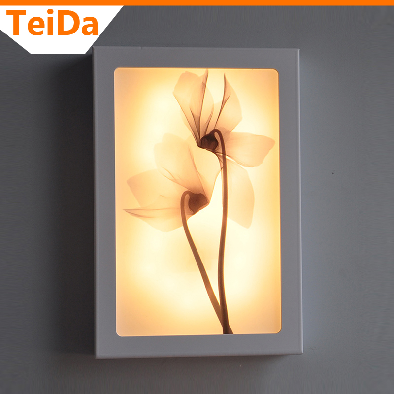 Фотография Wall Lamp Decorative flower Emit White or Warm White for Stairs Bedroom Light AC220V PVC 12W or 18W Wall lamp