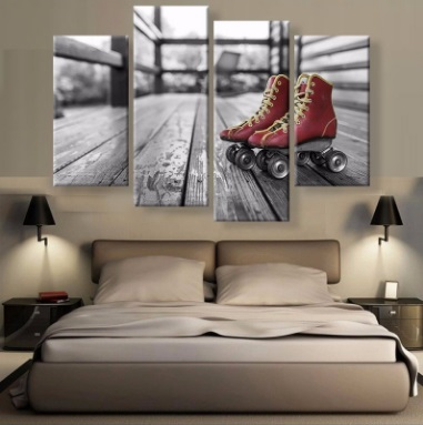 Roller skate picture promotion shop for promotional roller for B q living room curtains