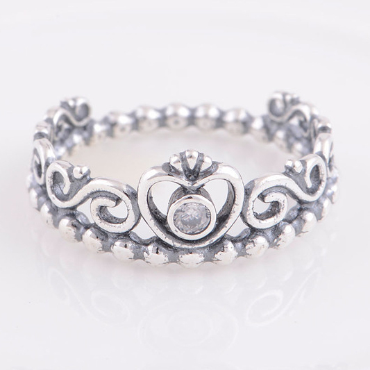 Authentic 925 Sterling Silver My Princess Queen Crown Ring Design Wedding Rings For Women Compatible With Pandora Jewelry(China (Mainland))