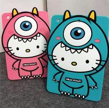 Anti-knock New silicon cartoon character tablette tablet PC for Apple iPad 4 3 2 accessory protective back case shell cover