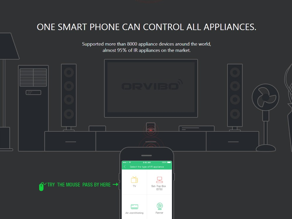 2017 Orvibo Smart Home Automation System WiFi IR Remote Controller Switch XiaoFang PK Allone Control by iOS Android Smartphone