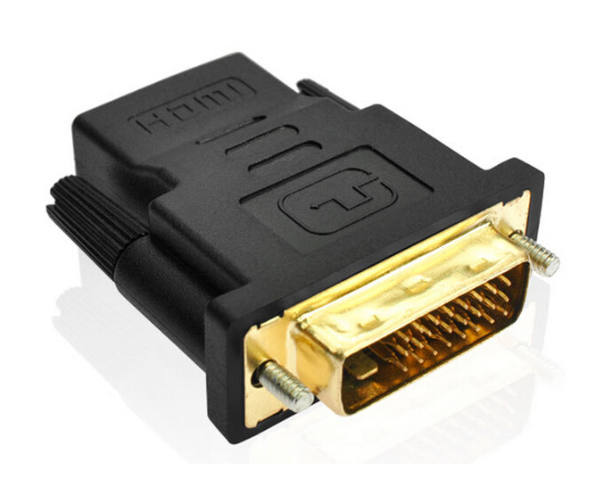 Гаджет  High quality DVI-D Dual link Male 24 + 1 to HDMI Female Adapter HDMI to DVI Gold Connector for HDTV 1Pcs/Lot None Бытовая электроника