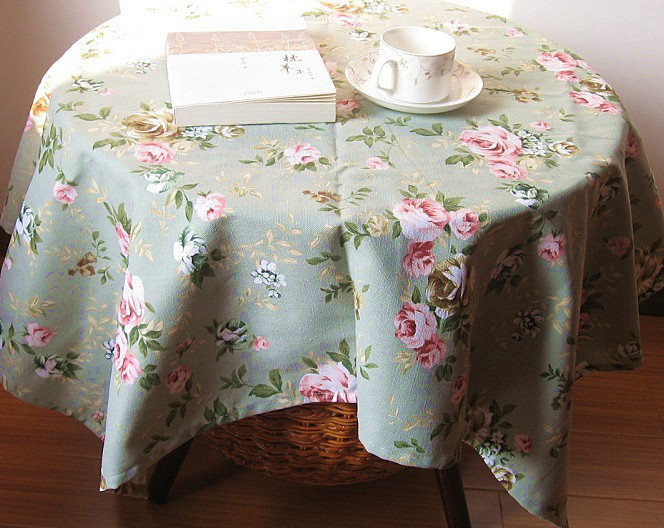 Rustic 100% cotton thickening canvas table cloth customize(China (Mainland))