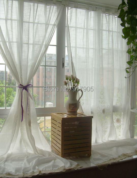 free shipping white hollow out curtains for living room