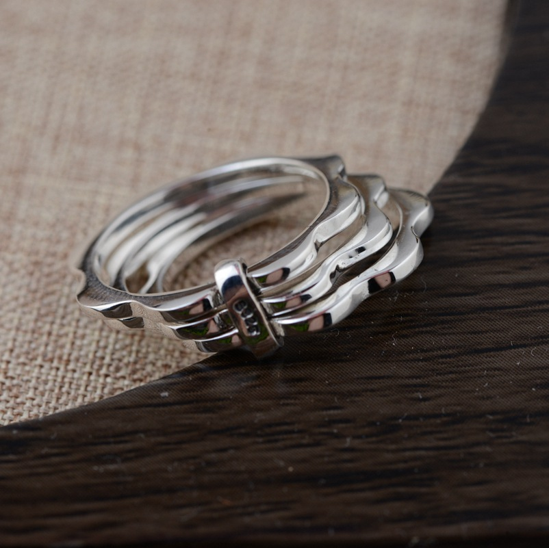 korean version of s925 jewelry sterling silver ring burst