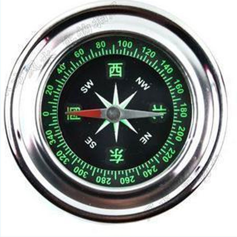 60 mm Travel Stainless Steel Metal Compass for both Outdoor and Home Sturdy and Durable(China (Mainland))
