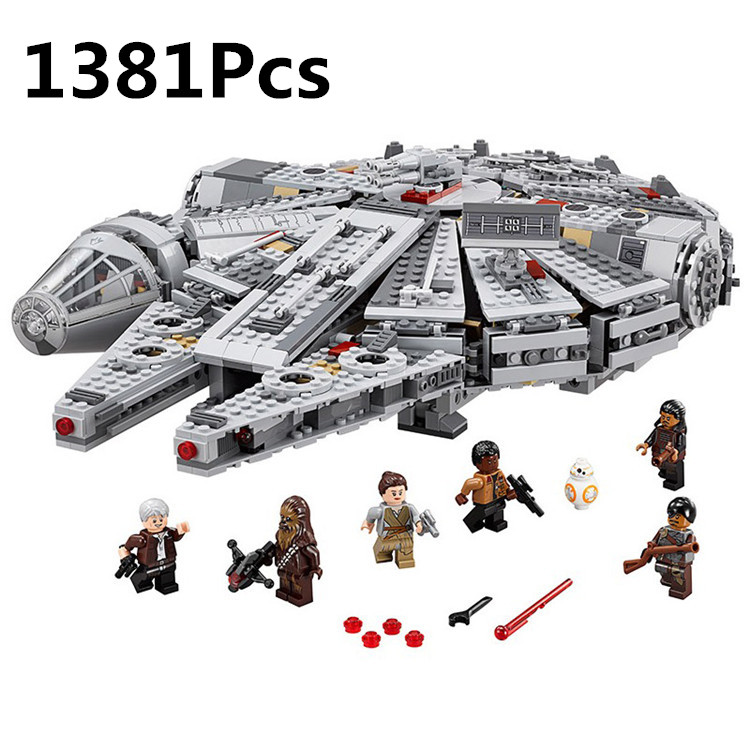 1381Pcs Star Wars Millennium Falcon Advanced Prototype Building Blocks Bricks Figure Toys mini figures compatible legoelieds<br><br>Aliexpress
