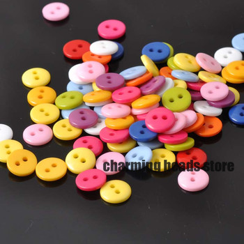 Mixed Round Resin Sewing Buttons for Scrapbooking craft Fashion Accessories 100pcs 9mm YKL0061X