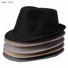 2016 Wide Brim Panama Fedora Hats for Women Men Jazz Caps Unisex Top Beach Visor Hat Straw Cap Brief Style Free Shipping DWT(China (Mainland))