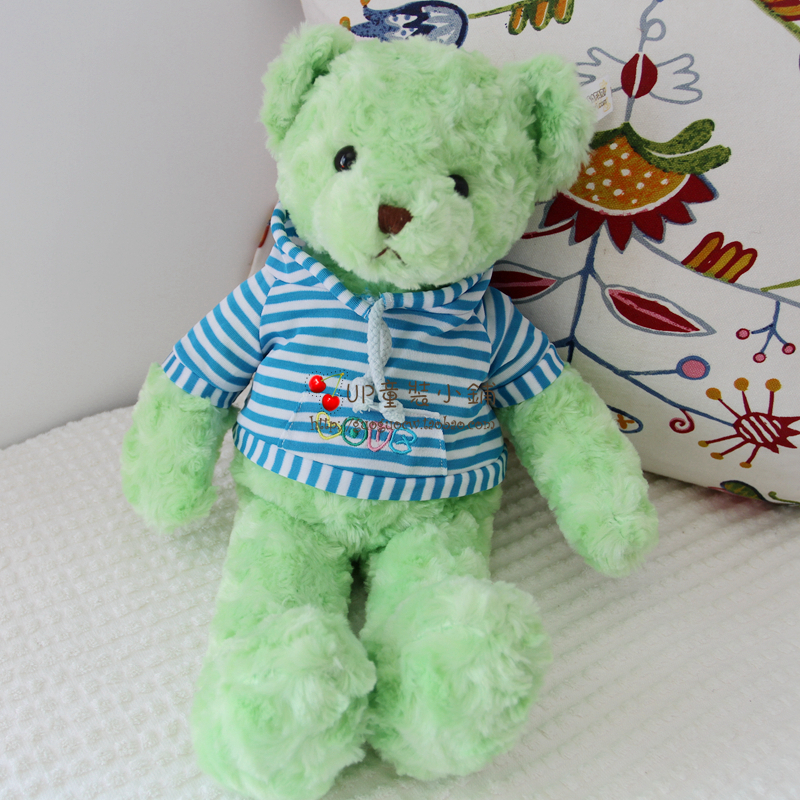 Jeju Teddy Bear Museum green teddy bear plush toy(China (Mainland))