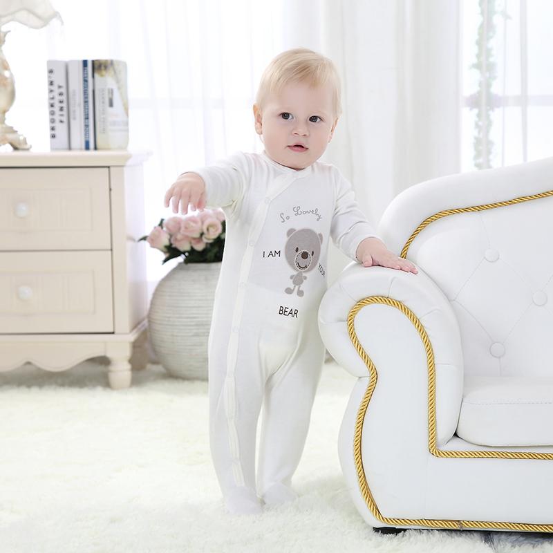 Spring Newborn Baby Romper Cartoon Long Sleeve Baby