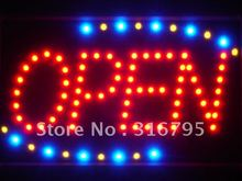 led001-r Red OPEN Classic LED Neon Business Light Sign(China (Mainland))