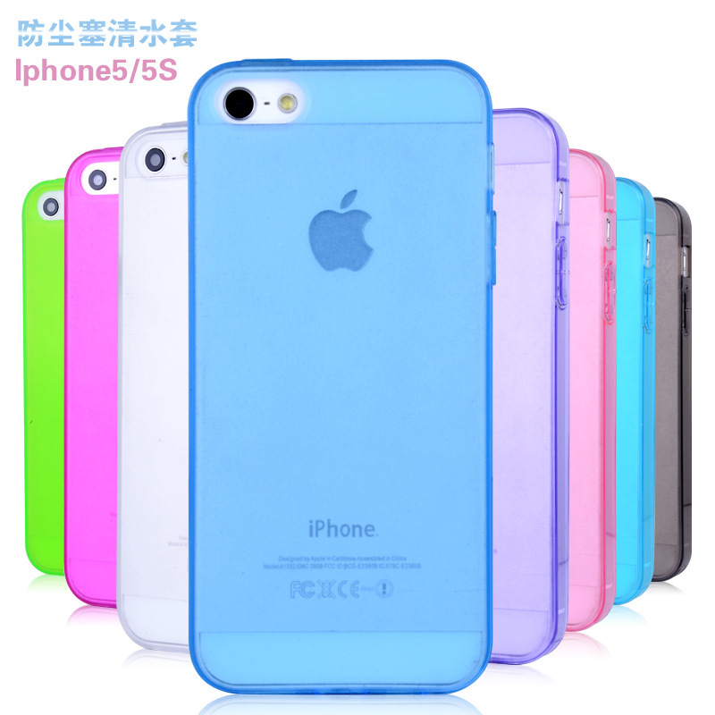 New Fashion ultra clear TPU covers cases apple phone 5 5s Soft GEL back case cover iphone - Blues electronics store