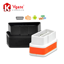 Vgate WiFi iCar 2 OBDII ELM327 100% Original  iCar2 WiFi Vgate OBD Diagnostic Scanner For iOS/Android PC 2 Years Warranty(China (Mainland))