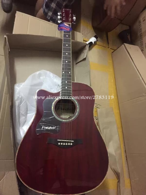 """Left handed guitar,41"""" Cutaway Electric Acoustic Guitars,Spruce Top/Mahogany Body guitarra eletrica With LCD Pickup + Hard case(China (Mainland))"""