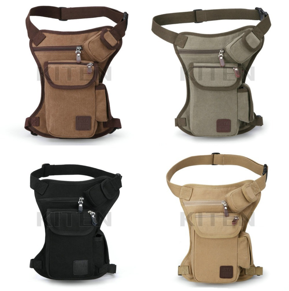 Free shipping High Quality Men Belt Bag Canvas Leg Bags Men Travel Bicycle Bags Waist Pack Bag Fanny Pack(China (Mainland))