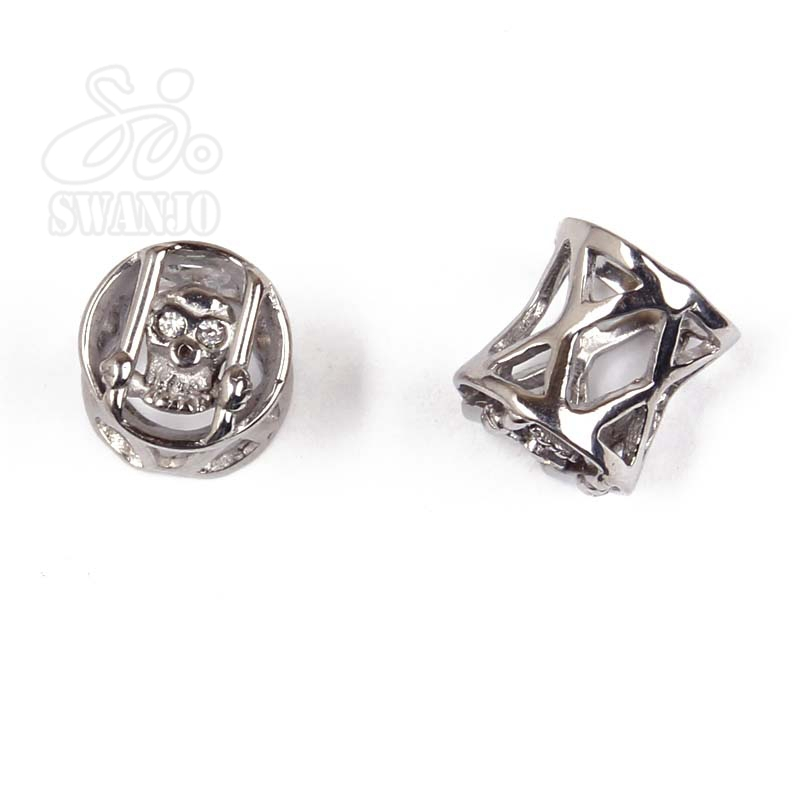 80Pcs/Lot 316L Surgical Steel Ear Plug Gauges With Skull Tunnel Pircing Expander Pirsing Body Piercing Jewelry Pircing Oreja