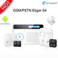 Etiger S4 Wireless 433mhz network GSM PSTN RFID LED display home security alarm system work with