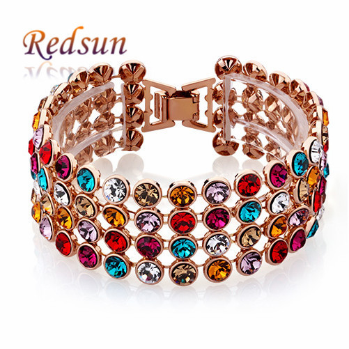 Wanted Jewelry Mixed Colors Crystal Maked Showy Fashionable Bracelets& Bangles Women/Men Fashion - Redsun Mall store