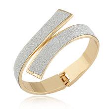 Pulseras Fashion Gold/Silver Cuff Bracelets & Bangles for Women Men Jewelry Matted Charm Bracelet Manchette Pulseiras Bijoux(China (Mainland))