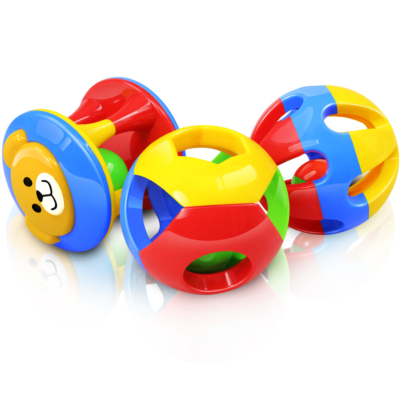 New Infants Grasping Ball Rattles Kids Puzzle Toy Funny EducationalGift(China (Mainland))