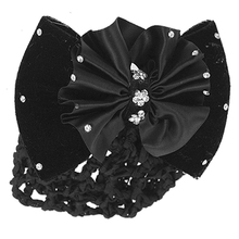 Shopping Time !New Practical Black Velvet Bowknot Barrette Hair Clip Snood Net for Women(China (Mainland))