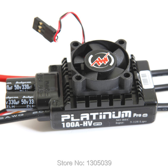 HobbyWing Platinum-100A-HV-V3 RC Model Brushless ESC for Multicopter for 550-600 class (helis)(China (Mainland))