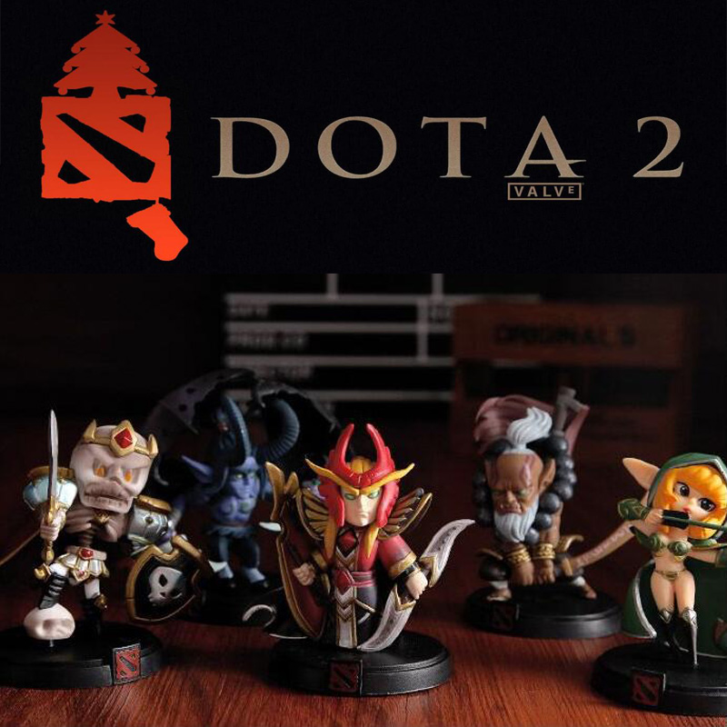All Styles WOW DOTA 2 Game Figure Kunkka Lina Pudge Queen Tidehunter CM FV PVC Action Figures Collection dota2 Toys(China (Mainland))