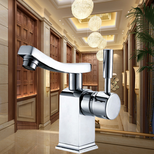 fashionable bathroom chromed basin tap single handle hole brass faucet CODE-7058 - becola Official Store store