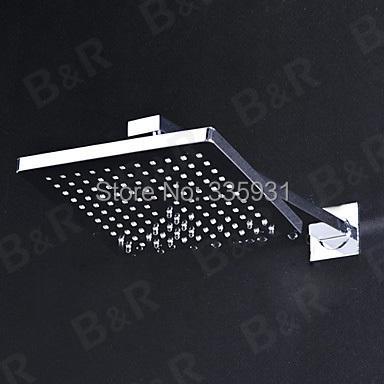 Chuveiro de chuva set torneira titular único chuveiro quadrado chuveiro cabeça com braço BR-S80-FB