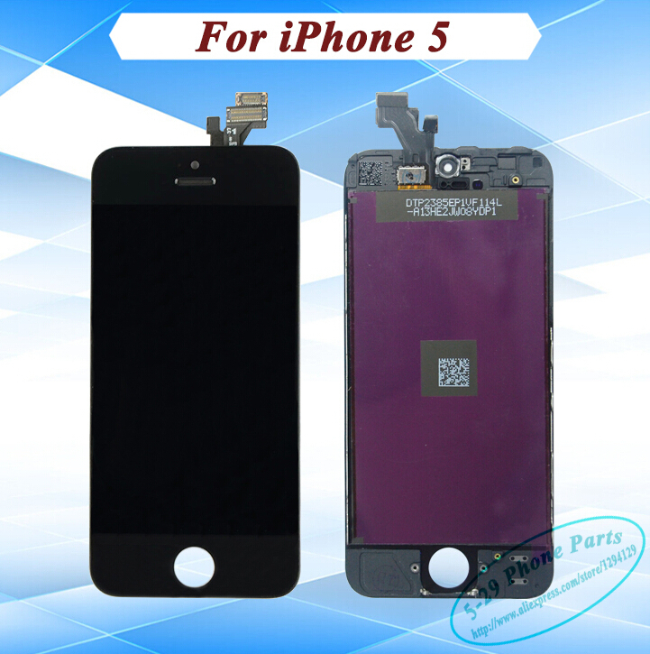 5pcs/lot DHL Free 5G Mobile Phone Spare Parts For iphone 5 LCD Complete Replacement With Touch Digitizer Screen Assembly(China (Mainland))
