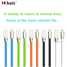 HKkais Super Strong TPE Metal Plug Micro USB Fast Charging Cable for iPhone 7 6 6s Plus 5s iPad mini / Samsung / LG / HTC