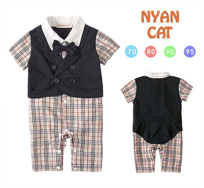 2015 New Baby Boy Romper Fashion Bow Tie Plaid Newborn Baby Rompers Cotton Baby Jumpsuit Boys Clothes 1770<br><br>Aliexpress