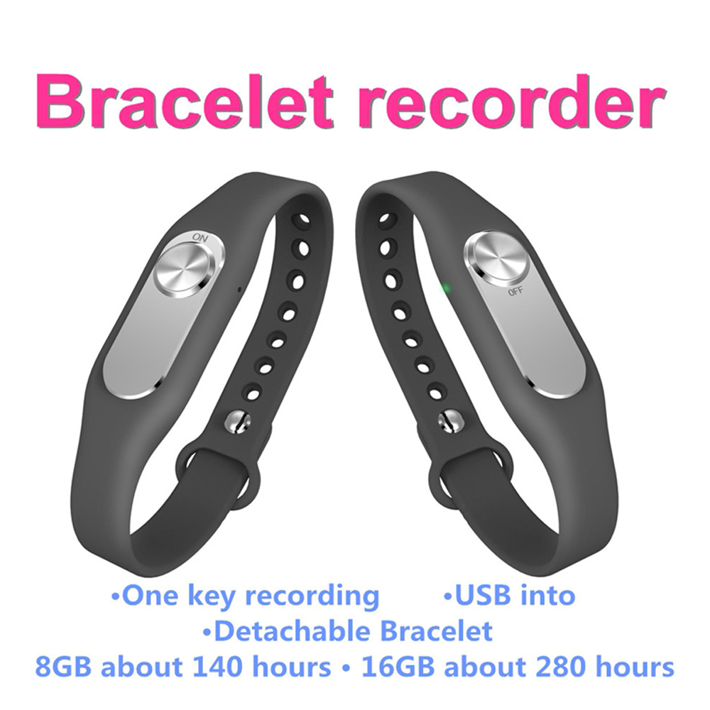 Newest Original Hnsat Wearable Wristband Portable Audio Video Digital Sports Bracelet Voice Recorder 8G Wristband USB Recorder(China (Mainland))