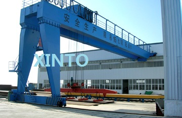 Double Girder Semi Gantry Crane 2T--32T available , heavy duty lifting crane----Customized order steel wire rope lifting sling(China (Mainland))