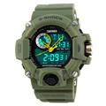 New2016 S shock men military watch sport watch 2times zone backlight quartz Chronograph jelly silicone swim