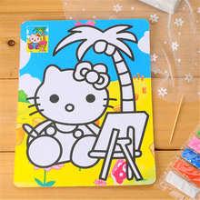 Diy color sand paint 20.5*15cm DIY handmade puzzle toys color background diy paint(1 piecs )(China (Mainland))