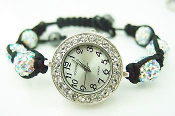wholesale shamballa bracelet watch women ladies fashion shamballa crystal bead quartz wrist women watch