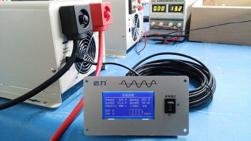 2016 Freee shipping UPS inverter DC/AC Off Grid Pure Sine Wave Low Frequency Inverter with Charger 6000W(China (Mainland))